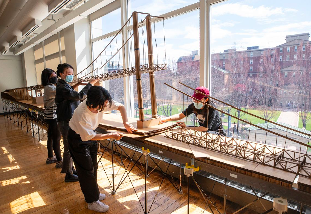 RISD Interior Architecture students propose innovative designs for adding pedestrian and cycling lanes to iconic Pell Bridge